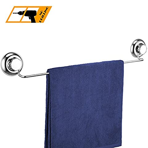 MaxHold No-Drilling/Suction Cup Single Towel Bar 24