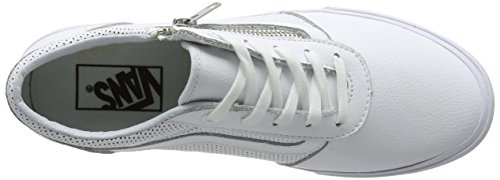 Vans Damen Milton Zip Sneakers Weiß (Perf Leather white)