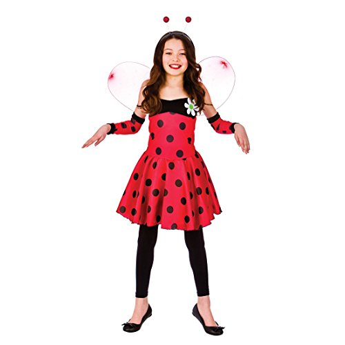 Unbekannt Girls Red Lovely Ladybug/Ladybird Fancy Dress Costume