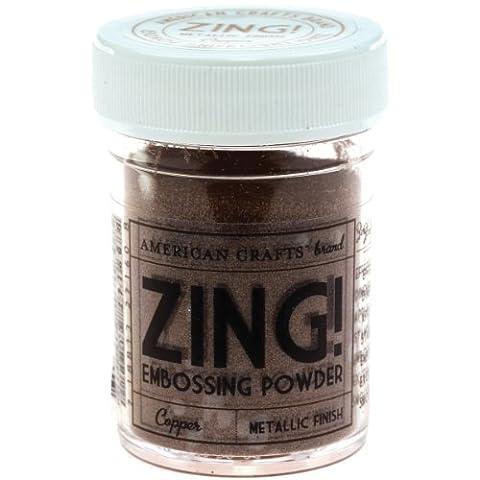 American Crafts 1-Piece 1 oz Zing Metallic Embossing Powder, Copper