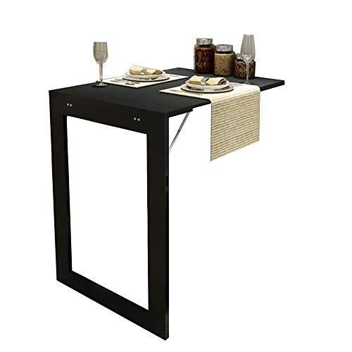 BAIF Klapptisch 90X60cm Weiß/Schwarz Multifunktions-Desktop-Schreibtisch zur Wandmontage Family Small Apartment (Farbe: SCHWARZ)