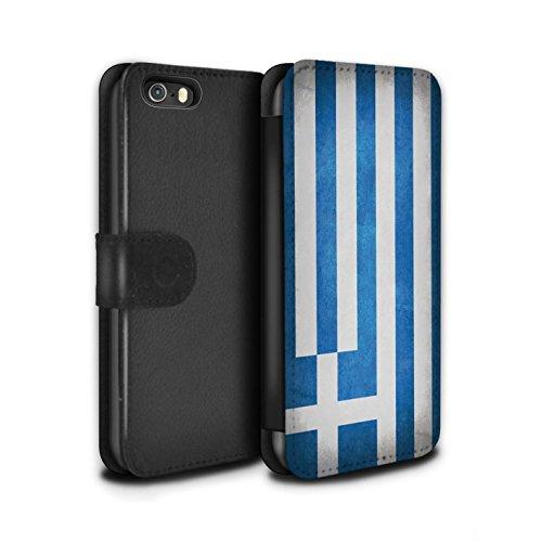 Stuff4® PU-Leder Hülle/Case/Tasche/Cover für Apple iPhone 5/5S / Griechenland/Griechisch Muster/Flagge Kollektion