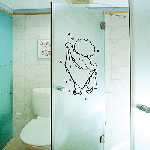 Wandtattoo Wohnzimmer Dusche Glastür Aufkleber Kinder Baden niedlich für Baby Badezimmer Dekor Aufkleber Wand Kunst Decals