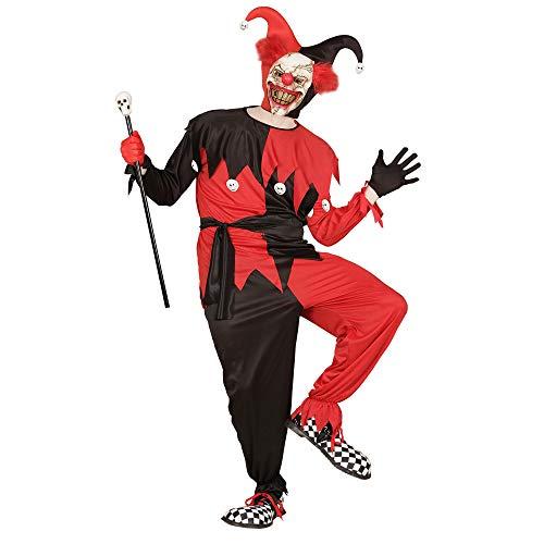 WIDMANN 01664 - Erwachsenenkostüm Evil Jester, Jacke, Hose, Gürtel und Hut, Größe (Psycho Circus Kostüm)