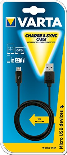 Preisvergleich Produktbild Varta Kabel Charge + Sync USB Micro 1 m