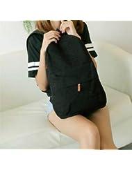 frixie (TM) negro blanco dulce mujer niña lienzo encaje mochila bolsa Campus bolsas