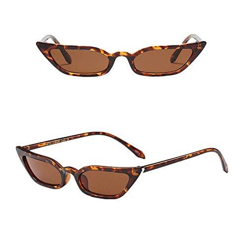 VRTUR 50er 60er Jahre Damen Retro Sonnenbrille Cat Eye Katzenaugen Rockabilly Modell FARBWAHL Brille(One size,Braun)
