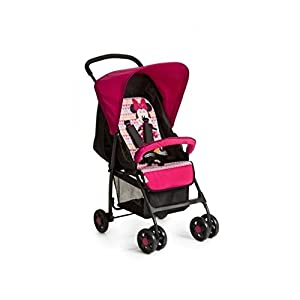 Hauck Sport, Pushchair from Birth to 15 kg with Lying Position, Easy and Compact Folding Sport Stroller, Bumper Bar, Shopping Basket, Minnie Geo Pink ZETA 12 Month FREE Warranty When Purchased and used from birth only. Warranty VOID If Purchased And Used For Babys Over 12 Months Lightweight stroller suitable for babies from Birth Umbrella fold for a compact folded size 8