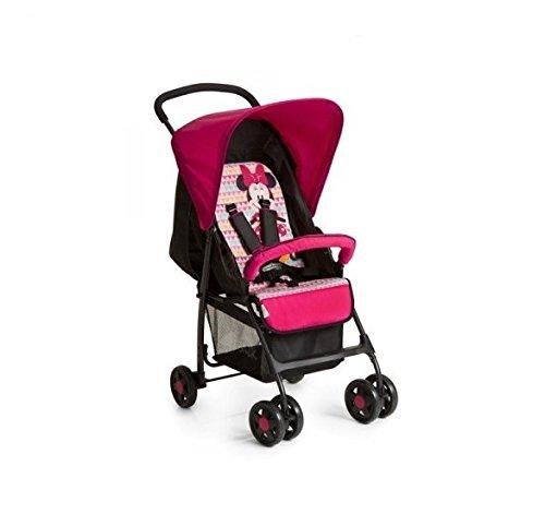 Hauck Sport - silla de paseo ultra ligera de 5,9kg, sistema de arnés de 5 puntos, respaldo reclinable, plegable, para bebes de 6 meses a 15kg, mickey pink (rosa)