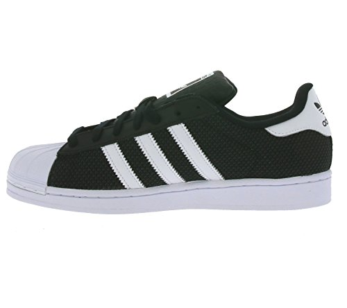 ... Adidas Superstar Mesh, Baskets Homme Noir / Blanc ...