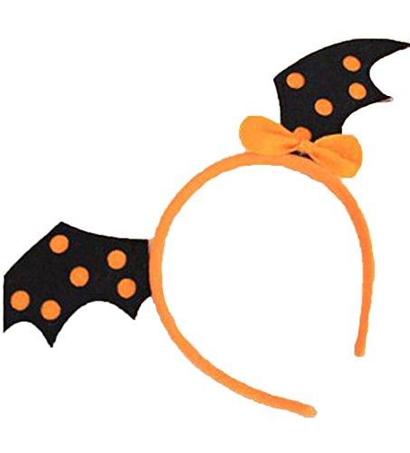 AprilElst Halloween Stirnband Haarband Gelb Teufel Flügel Design Haarband Party Zubehör für Halloween Große Hen (Flügel Teufel Nacht Kostüme)