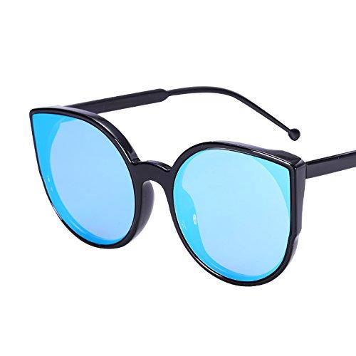 LXKMTYJ Sepia Cat's Eye Sonnenbrille Cat Ear runde Sonnenbrille Ebene bunte Sonnenbrille, der Himmel ist blau