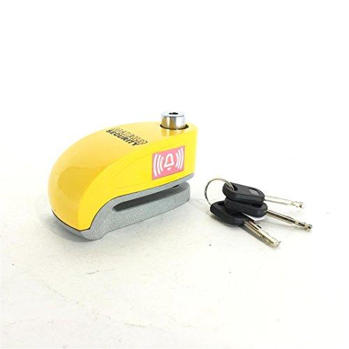VIPER Rocksolid Security  Motorrad-Sicherheits Zubehör Diebstahlsicherungen Bremsscheibenschloss mit Signal-Alarmanlage 10 mm Gelb, N/A One