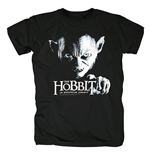 TSP The Hobbit - Smeagol T-Shirt Herren XXL (Kostüm Billig Frodo Beutlin)
