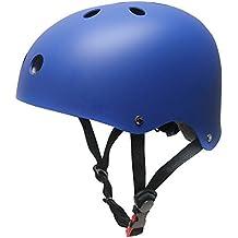 Topfire - Casco deportivo unisex, mate, color azul, tamaño S