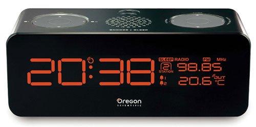Scientific Oregon Wecker (Oregon Scientific RRM320P Radiowecker Vision mit Projektionsfunkuhr und Temperaturanzeige Schwarz)