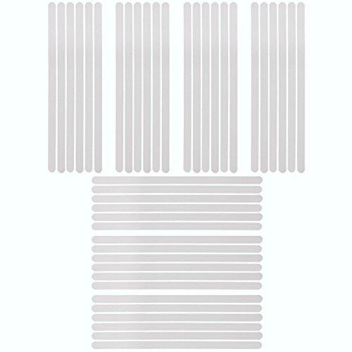 42 x 45*2cm Klar Selbstklebende ANTI Rutsch Streifen für Treppe Stufe Bad Dusche Badewanne Wanneneinlagen Antirutschstreifen Klebestreifen Rutschschutz (Treppenstufen Streifen)