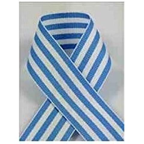 Schiff Ribbons 44207-5 10-Yard Candy Stripe Ribbon, 7/8-Inch, Navy/White Stripe by Schiff Ribbons