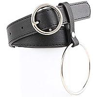 JIER Mujer Cinturón Piel de Vacuno Moda Cinturones Ajustable Cintura Retro Ropa para Jeans Pantalones Cortos Vestidos para Mujeres con la Hebilla del Pin de la aleación