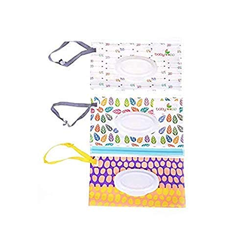 Uteruik - Dispensador de toallitas húmedas bolsa toallitas bebe Estuche de Viaje para toallitas húmedas para bebé, 3 Unidades