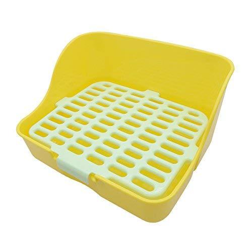 Saim Pet coniglio WC, plastica rettangolo mesh design Pet potty Toilet Trainer angolo lettiera Bedding per piccoli animali, porcellino, Galesaur, furetti