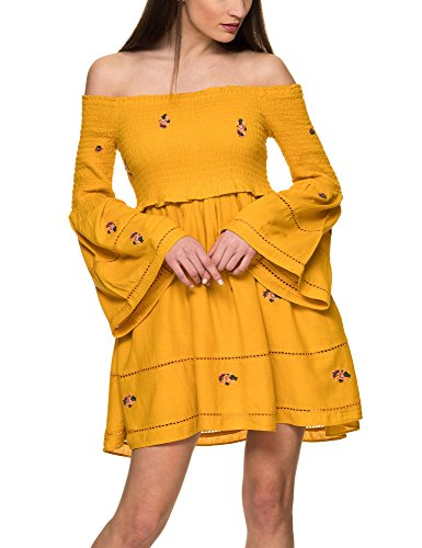 Free People Women's Counting Daisies Women's Yellow Dress