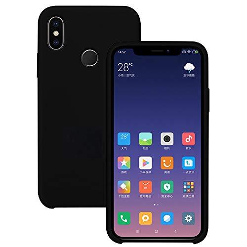 Pacyer Funda Compatible con Xiaomi Mi MAX 3, Ultra Suave TPU Gel de Silicona Case Protectora Suave Flexible teléfono Absorción de Impacto Elegante Carcasa Compatible Xiaomi Mi MAX 3 (Negro)