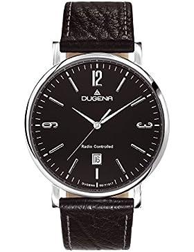 Dugena Herren-Armbanduhr Mondo - Funkuhren Analog Quarz Leder 4460556