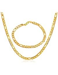 BFC- Stylish Gold Plated Chain With Bracelet For Man And Woman