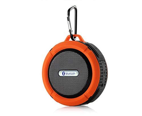 MIJIN Drahtlose Bluetooth 4.0 Stereo Portable Speaker eingebaute mic Schock-Resistance IPX6 Waterproof Speaker mit Bass,Orange (1000w Surround-sound-system)