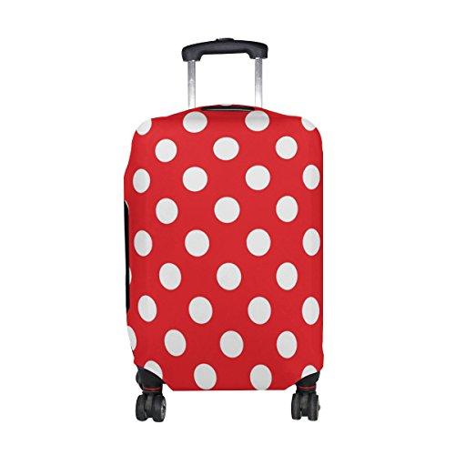 ALAZA Clásico rojo y negro del lunar de la cubierta de equipaje cabe 22-24 pulgadas maleta de viaje Spandex protector