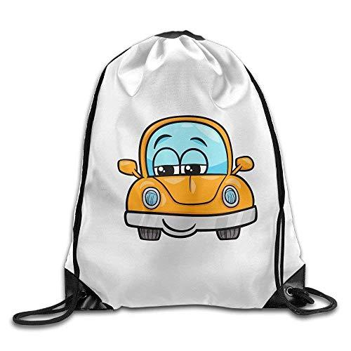 Galleria fotografica Jolly2T 3D Print Drawstring Backpack | Rucksack | Shoulder Bags | Gym Bag - (Cartoon Car)