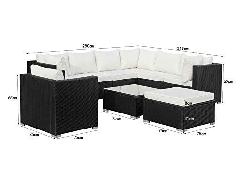 Hansson Polyrattan Lounge Sitzgruppe Gartenmöbel Garnitur Poly Rattan 7 Sitzplätze Bild 3*
