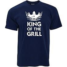 King Of The Grill Logo Slogan disegno stampato dad T-Shirt Da Uomo