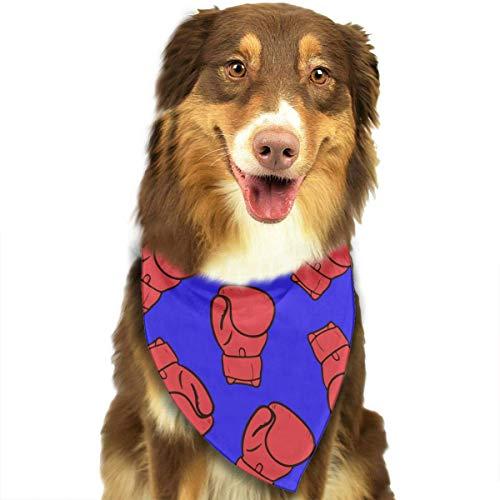 Sdltkhy Boxing Gloves Pattern Pet Dog Cat Bandanas Triangle Bibs Pet Scarf Dog Neckerchief Headkerchief Pet Accessories (Wraps Boxing Kleine)