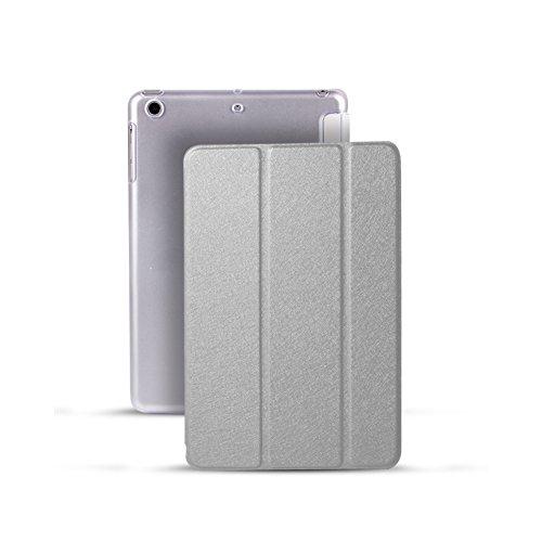 Smart Cover Schutzhülle mit faltbarem Ständer, Schlaf-/Wach-Funktion, ultradünne Schutzhülle aus Leder mit matter Oberfläche, für iPad Mini 1/2/3 grau grau Ipad Mini Folding Stand