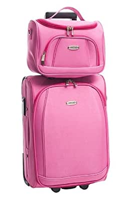 Valises, trolleys Travel One pour Mode homme, Modèle 4571 Valise Cabine + Vanity Case - MIAMI FUSHIA