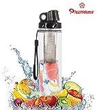 Fruit Infuser Water Bottle Good Quality 850 ml (Black) by Premsons