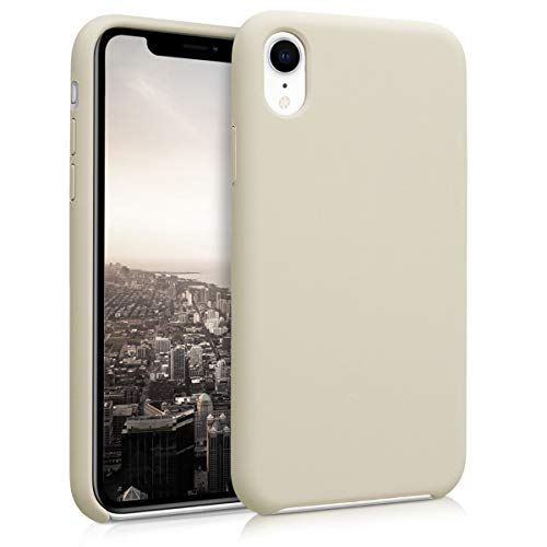 kwmobile Apple iPhone XR Hülle - Handyhülle für Apple iPhone XR - Handy Case in Beige matt