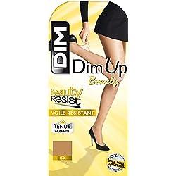 DIM - Medias con bordado 20 den para mujer, talla 38/40 (S/M), color marrón (cannelle)