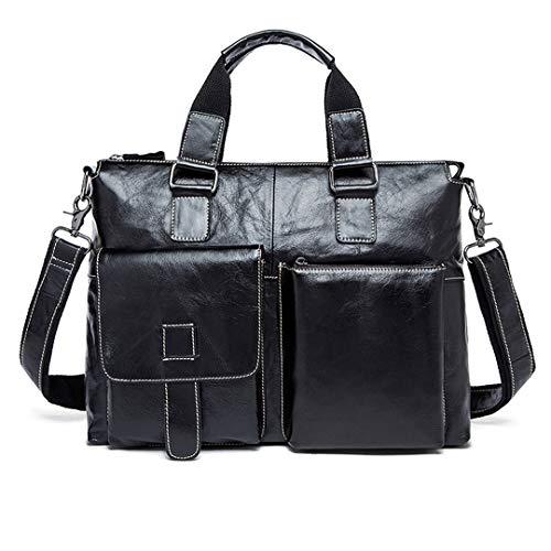 Herren Umhängetasche Leder Bussiness Taschen Aktentasche Laptop