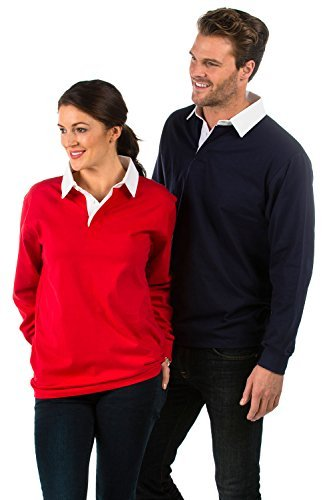 Bruntwood Premium Long Sleeve Rugby Shirt - 280GSM - Cotton/Polyester