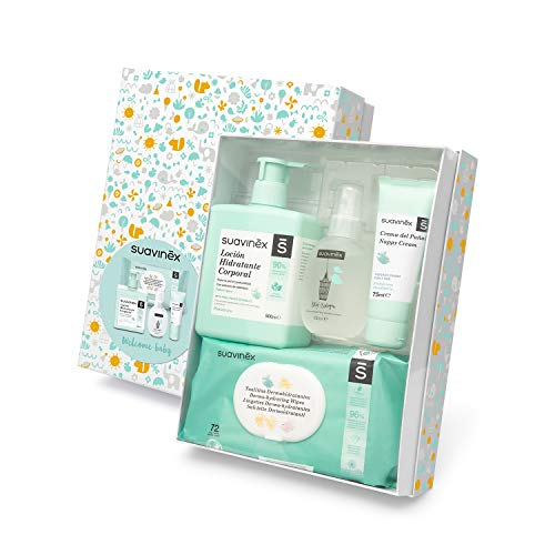 Suavinex - Canastilla de cosmética para bebé/Canastilla de regalo para recién nacido. Crema pañal...