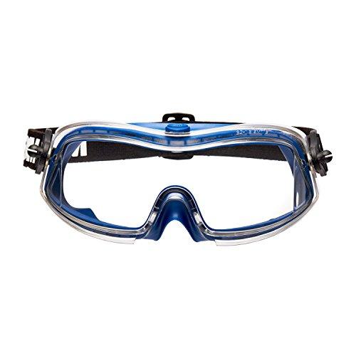 3M Modul-R Occhiali a mascherina di protezione, lente trasparente in PC (DX), ventilazione indiretta, banda elastica, 71361-00001M