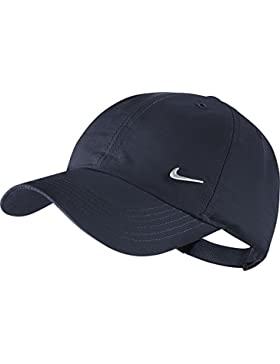 Nike Ya Heritage 86 Swoosh AD - Gorra de tenis unisex para joven, color obsidiana/plateado