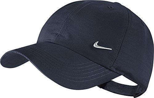 Nike Kinder Cap METAL SWOOSH Schirmmütze, Obsidian/Metallic Silver, One Size - Nike Womens Golf Apparel