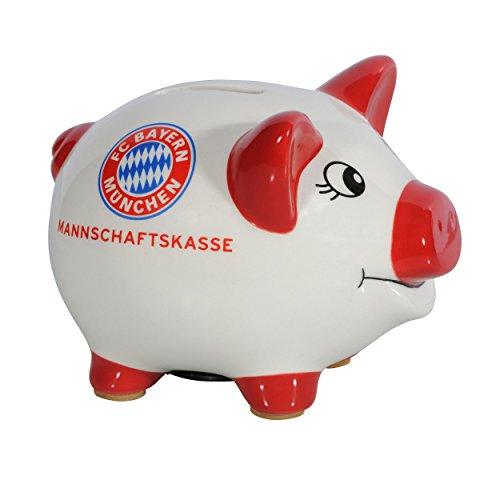 FC Bayern München Sparschwein / Spardose / Sparbüchse / Piggy Bank – Keramik FCB – plus gratis Aufkleber forever München