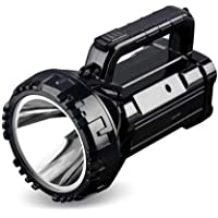 Crasts CT-DP-7045B Portable Rechargeable High Brightness Flashlight LED Torch Light, Search Light (Black)