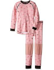 Helly Hansen K Hh Warm Set 2 - Set prendas interiores con camiseta y mallas para niños, color rosa, talla 134/9