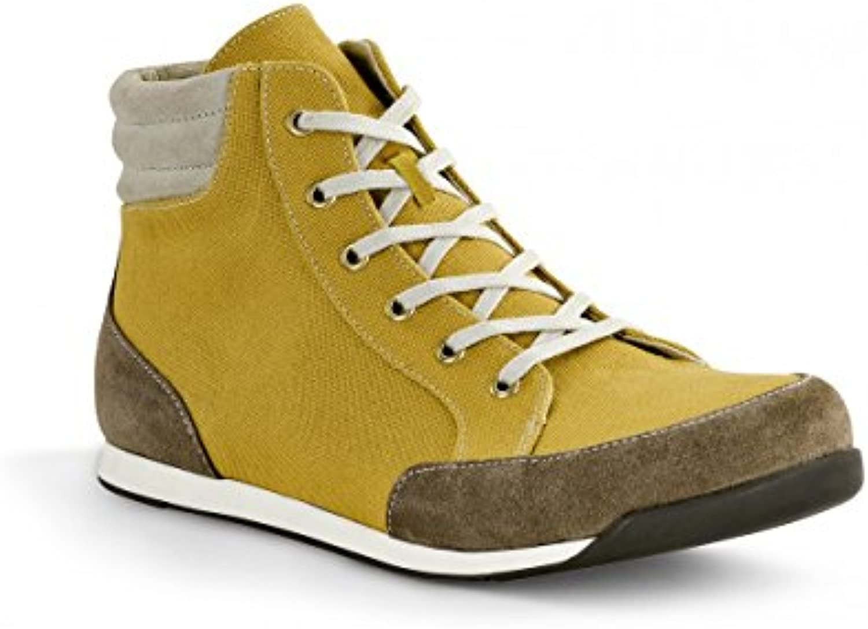 Birkenstock Boots ''Prien'' aus Leder/Textil in senf/taupe mit schmalem FussbettBirkenstock Boots Prien Leder Textil